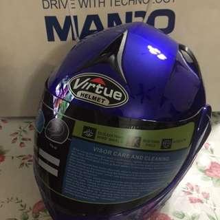 Virtue Blue Full Face Helmet New