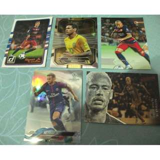 Neymar Jr Topps/Panini trading cards for sale/trade (lot of 5 cards)