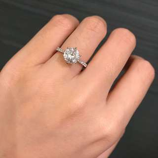 1.77ct 鑽石戒指 *有日本CGL證書 連半圈鑲鑽托 11.5號size