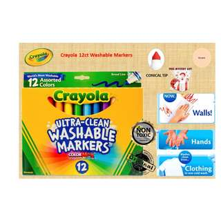 Crayola 12 Colors Washable Markers