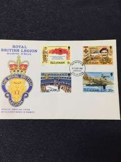 Isle of Man 1981 Royal British Legion FDC stamps