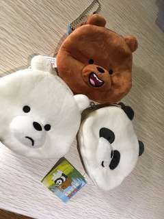 (1WEEKPO) We Bare Bears Coin Pouch