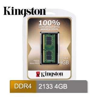 🚚 降價啦!!!全新未拆 - 金士頓 筆電記憶體 DDR4 4GB