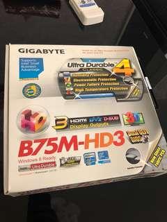 intel i5-2400 連 gigabyte B75M-HD3 底板