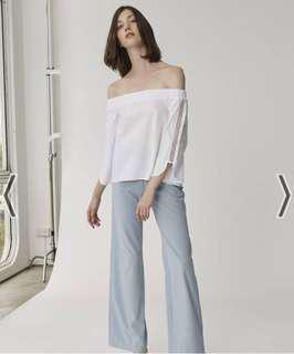 Looking for collate the label off shoulder top