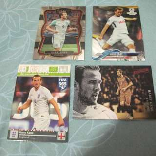 Harry Kane Topps/Panini trading cards for sale/trade (Lot of 4 cards)