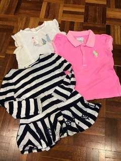 3pcs set RALPH LAUREN / next TOP 24mths
