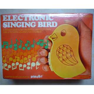 全新 Electronic Singing Bird 懷舊玩具收藏 電子發聲雀鳴 Made in Hong Kong