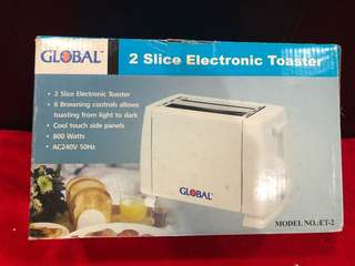 Global 2 Slice Electronic Toaster
