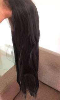 Front lace black Long wig