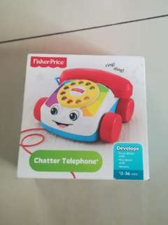 NEW Fisher Price phone with string