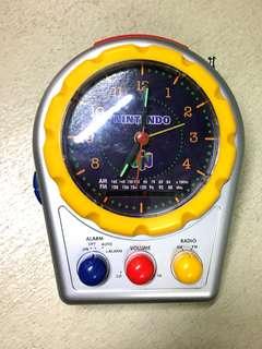 Nintendo Alarm Clock & Am, Fm radio