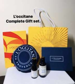 L'occitane (Loccitane) Aromachologie Relaxing Duo + Limited Edition Foldable Large Shopping bag. A complete gift set.
