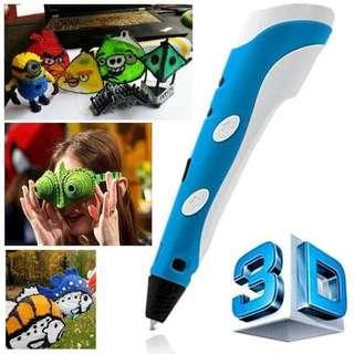 Pen pulpen 3D printer anak kreatif edukasi portable gambar