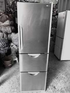 日本製造HITACHI自動製冰不鏽鋼三門雪櫃