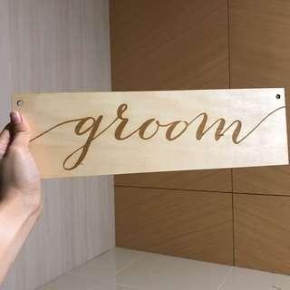 Wedding Signs / Bride & Groom Chair Signage