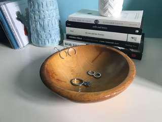 Wooden Jewelry bowl / tray