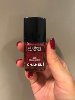 Chanel Le Vernis Nail Color #595 Rouge Moire