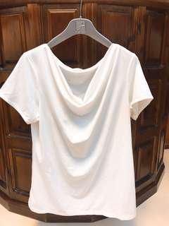 素色白色短袖上衣