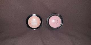 Blush on All-in-one cheek colour the body shop shade : marshmallow, Blush on Maybelline colour show blush shade : wooden rose