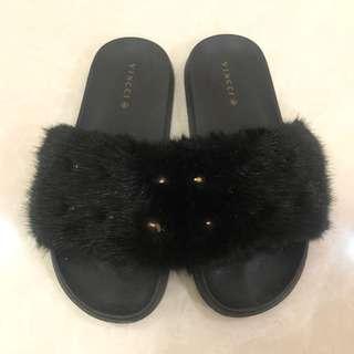 Vincci Fur Sandal