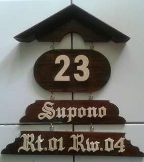 papan nama dekorasi
