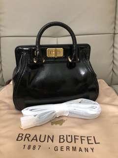 Brand New Braun Buffel Black Leather Bag