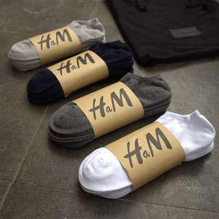 Kaos kaki pendek socks HNM warna hitam Unisex