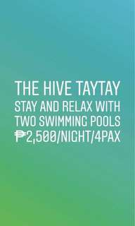 The Hive Staycation (Taytay, Rizal)