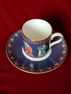 """Wedgwood Porcelain Coffee Cup and Saucer """"Musical  Muses"""""""