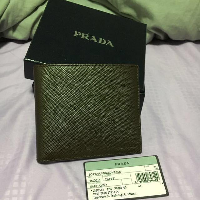 ... sweden 350 prada men saffiano bi fold wallet brown mens fashion bags  6482e 50502 ede453bd0662c
