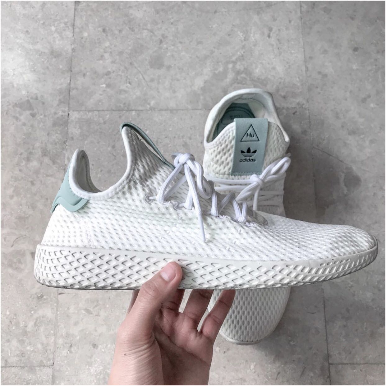 c2cdf45a7356 Adidas Originals x Pharrell Williams Tennis Hu Tactile Green