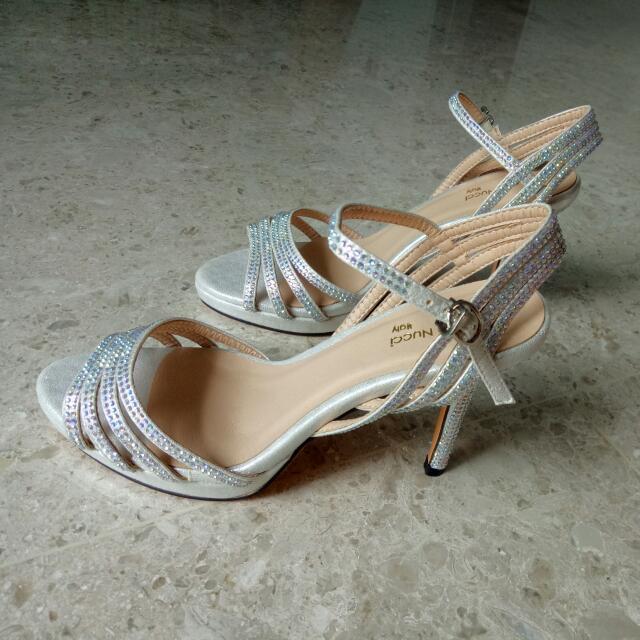 2a5af28b8aa Anna Nucci Wedding Silver Glitter Heels