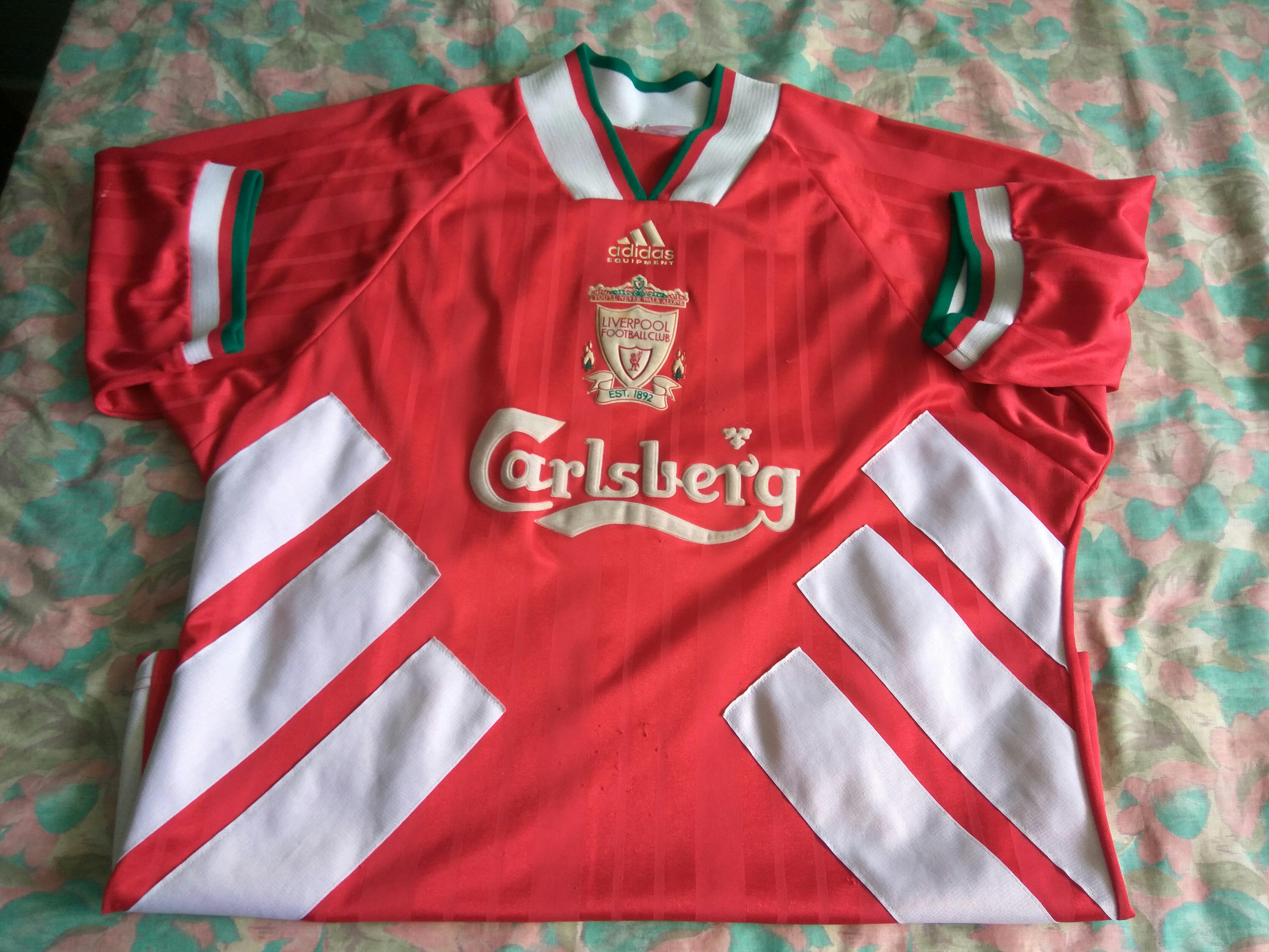 new concept d85fa 57005 Authentic adidas liverpool 1994 home kit jersey size 42-44 L ...