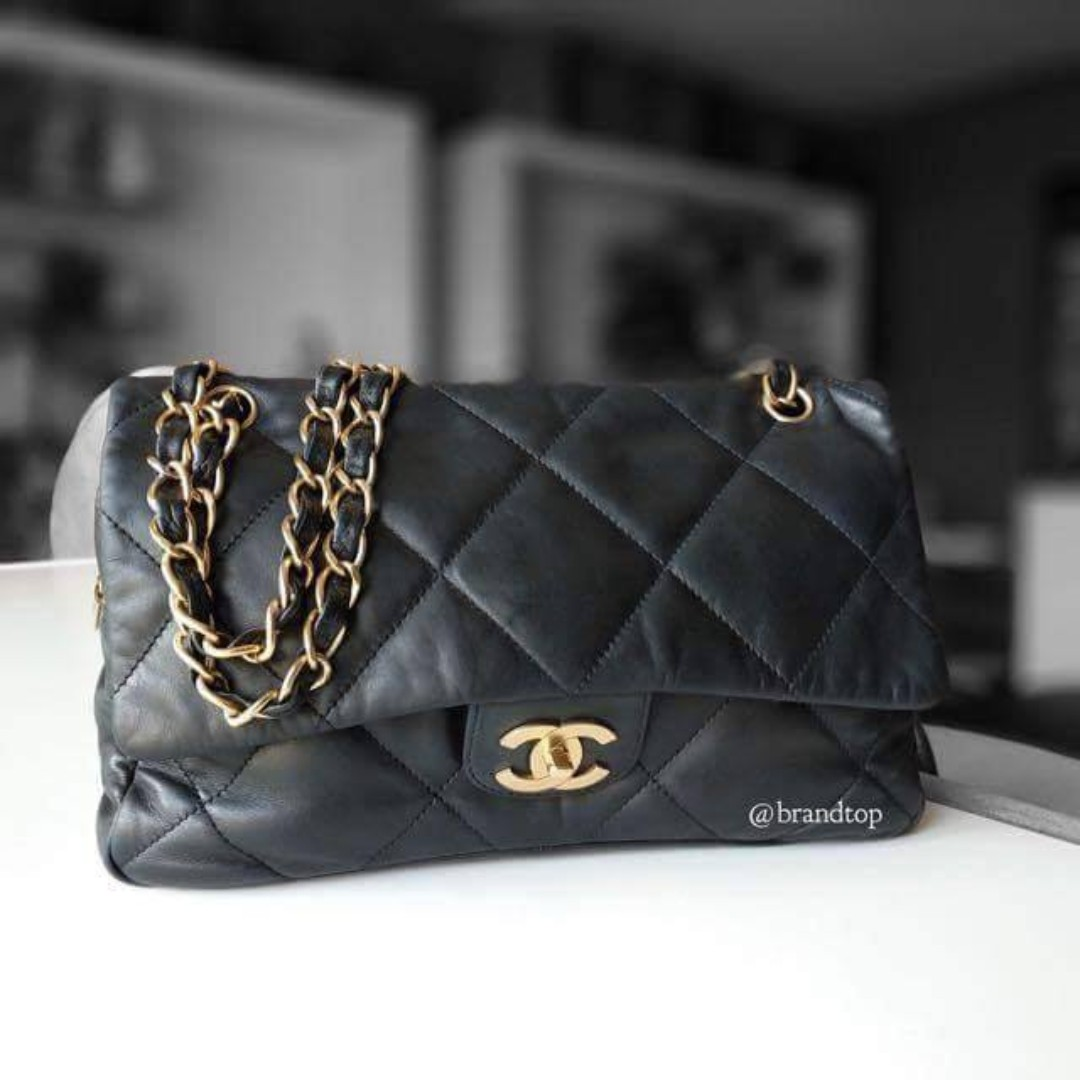 7a0d615a644892 Authentic Chanel Seasonal Flap With Gold Hardware, Luxury, Bags ...