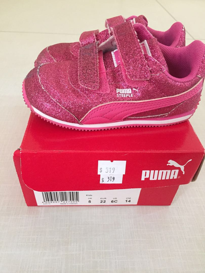 dd4ed162875e6 Authentic Puma steeple glitz glam v pink sneakers shoes