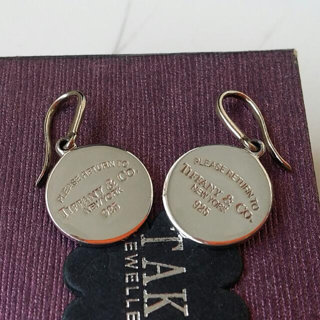 399511a3552f4 Authentic Tiffany & Co. Return To Tiffany Round Tag Sterling Silver ...