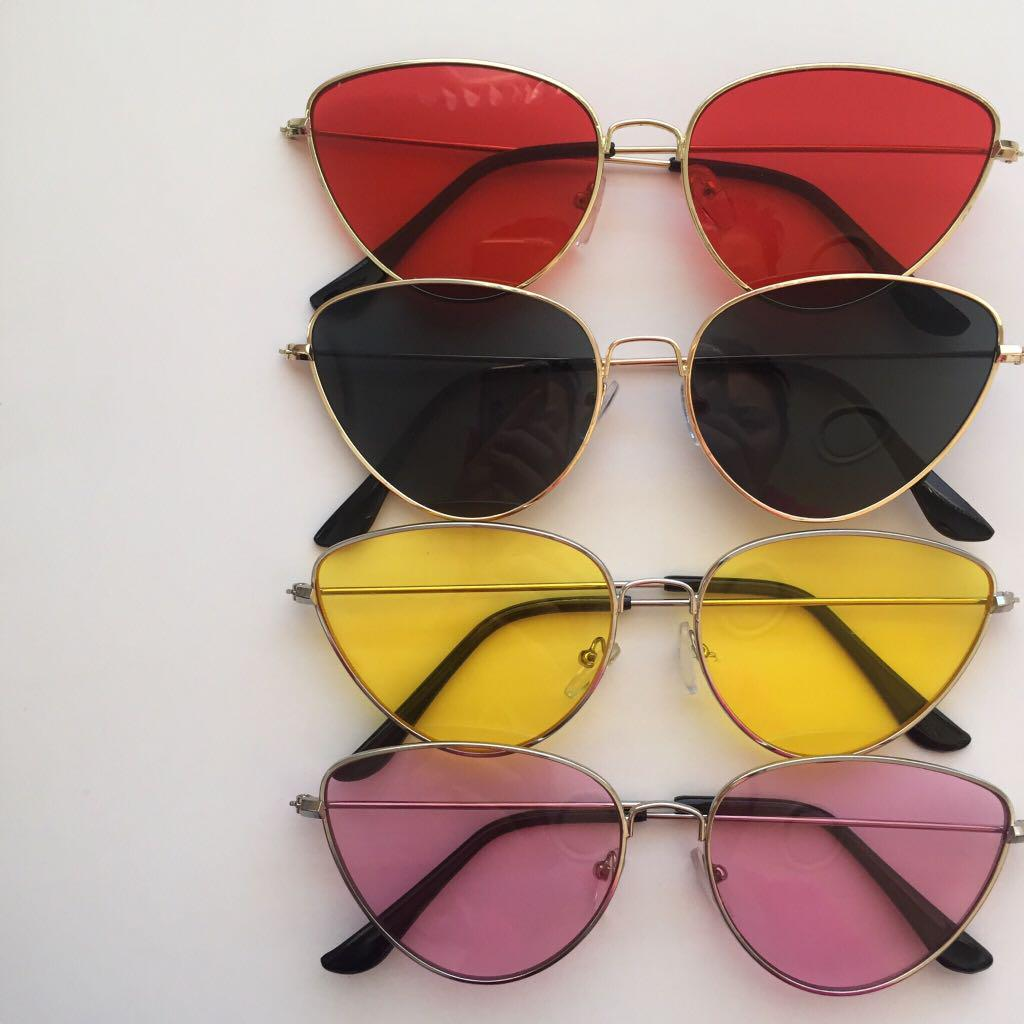CAT EYE COLOURED SUNGLASSES