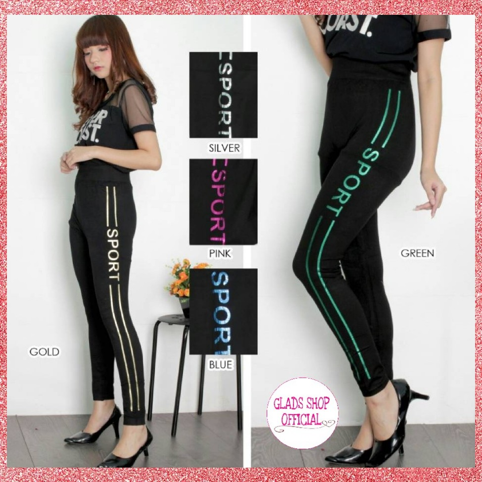 Celana Legging Sport Import Olahraga Wanita Womens Hitam Fashion Clothes On Carousell