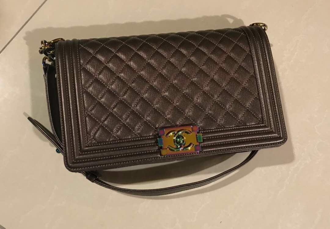 58c940e9b7c1 Chanel iridescent bronze rainbow, Luxury, Bags & Wallets, Handbags ...