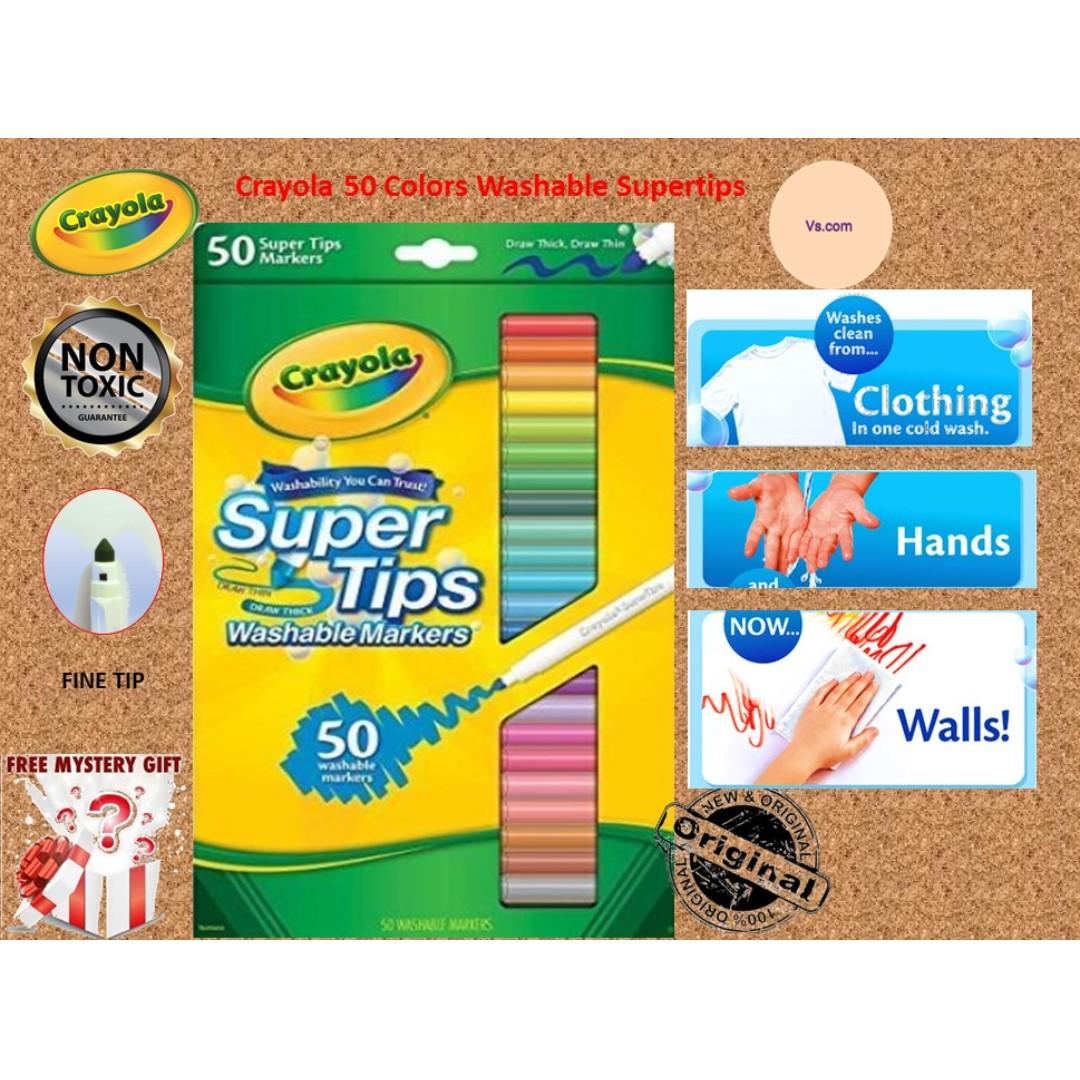 crayola 50 colors washable supertips books stationery stationery