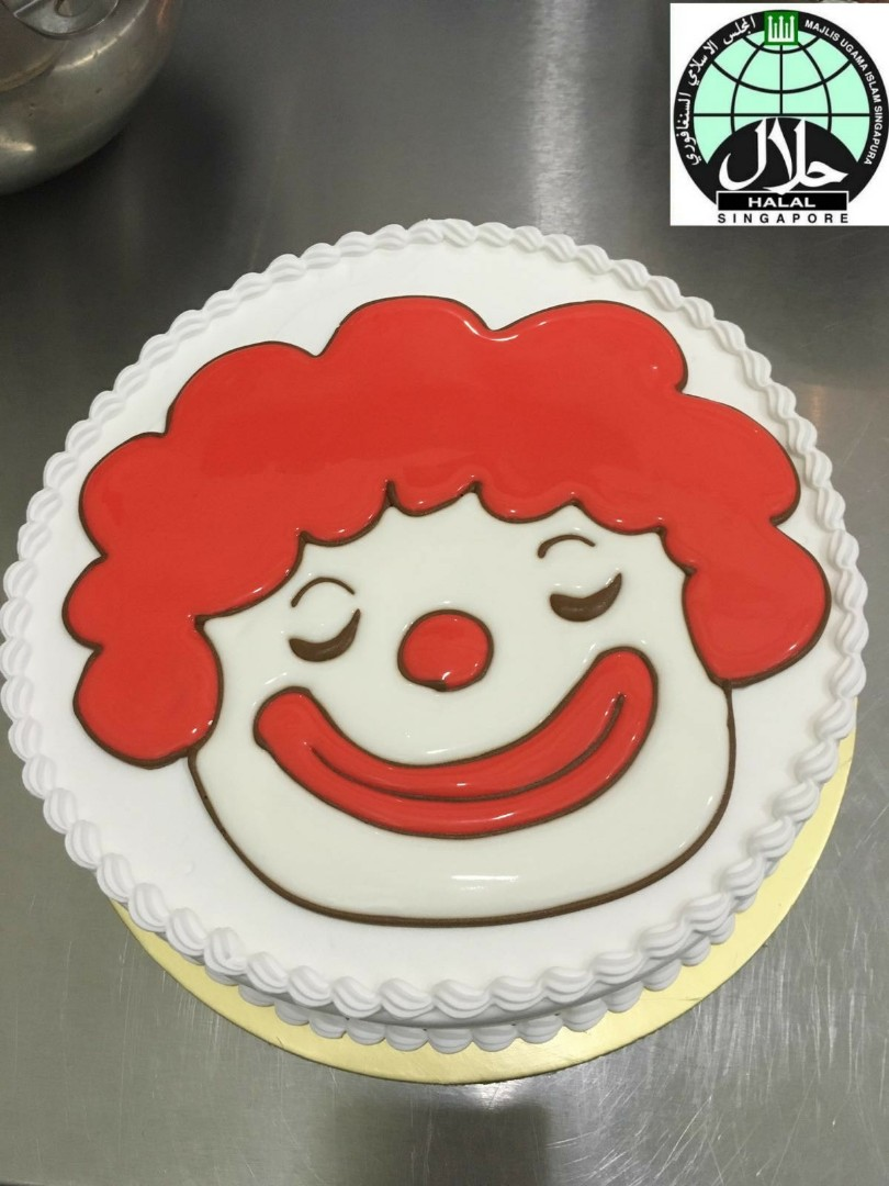 Fantastic Customised Clown Birthday Cake Food Drinks Baked Goods On Funny Birthday Cards Online Inifodamsfinfo