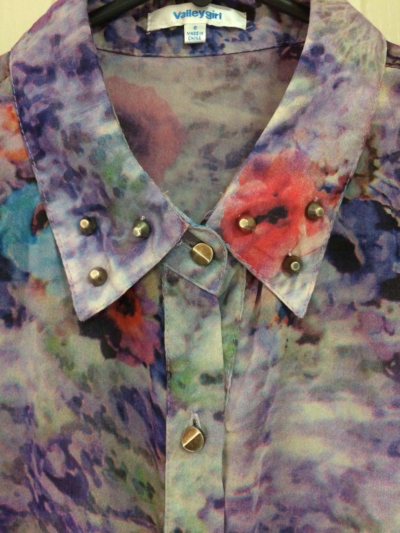Flowing Floral longline button-up
