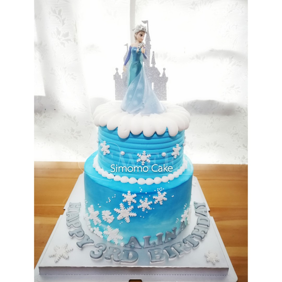 Frozen Cake Blue Ombre Cake Elsa Cake Free Delivery Food Drinks
