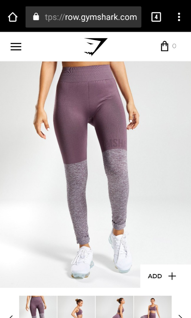 32793129d6969 Gymshark seamless twotone leggings, Sports, Sports Apparel on Carousell