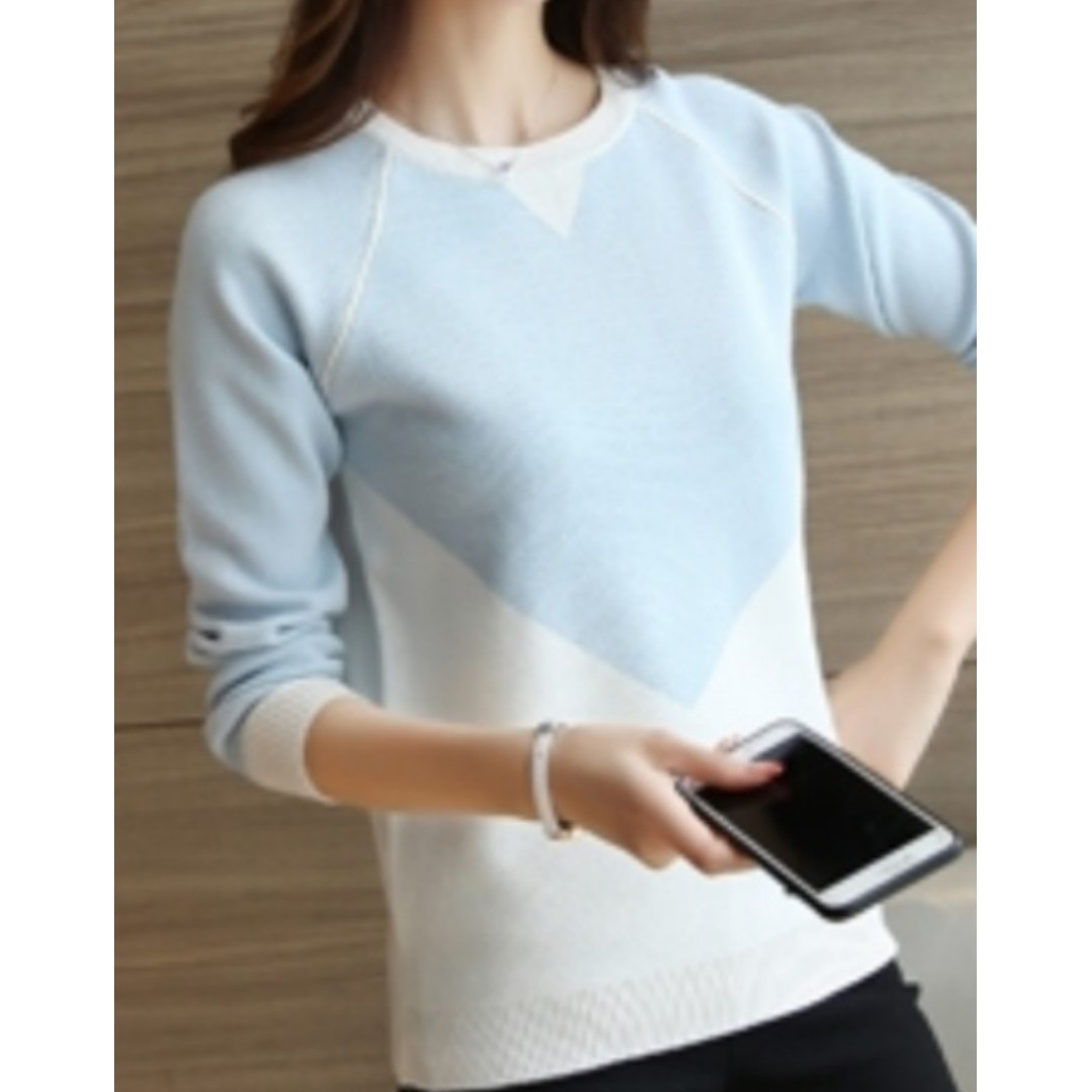 88e3f93047ad Light Blue Korean Sweater