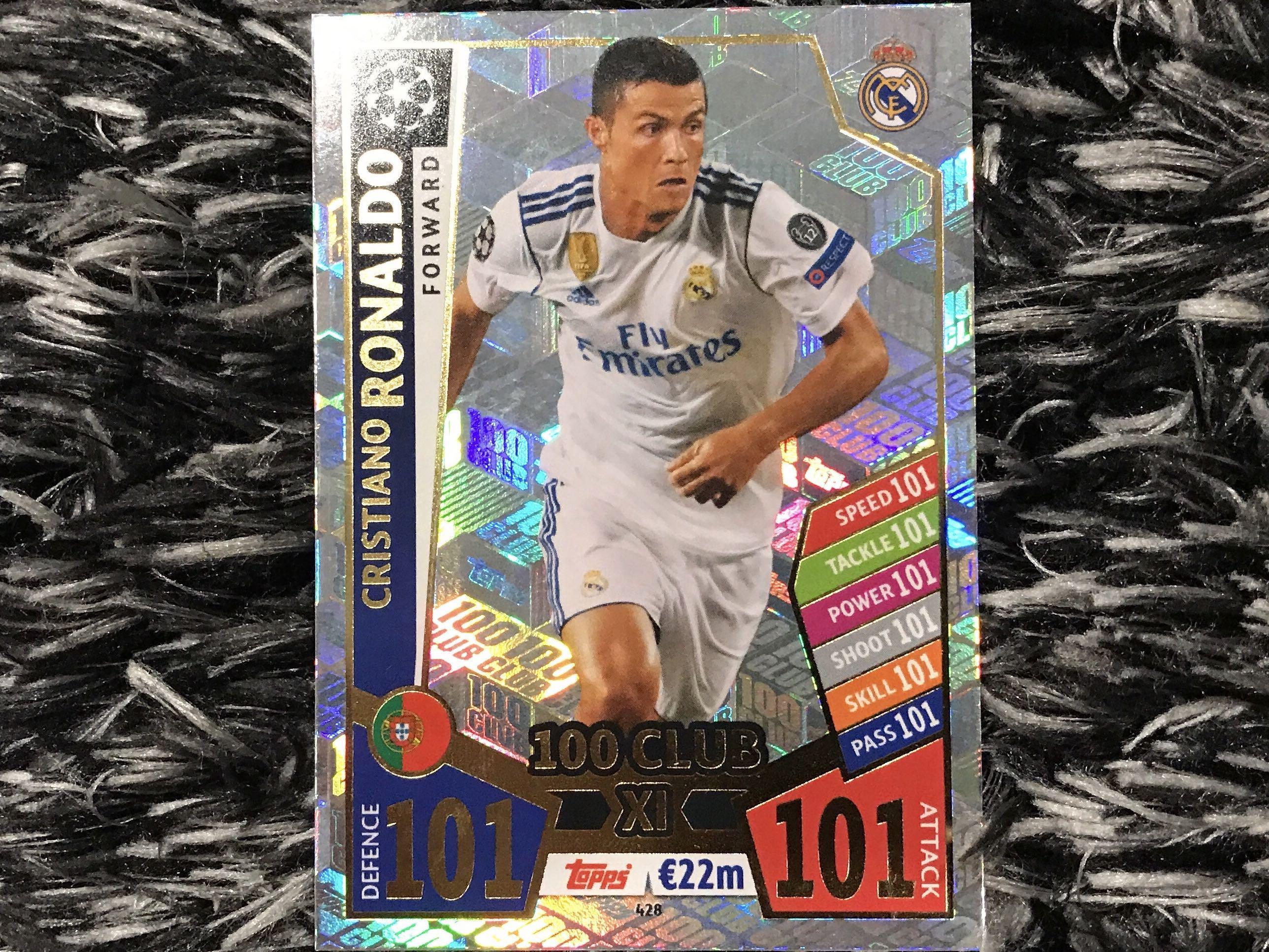 Cristiano Ronaldo Match Attax Champions League 17//18-428 Club 100