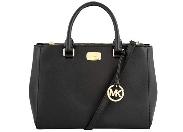 b93bc186c10687 Michael Kors Kellen Satchel Black, Women's Fashion, Bags & Wallets ...