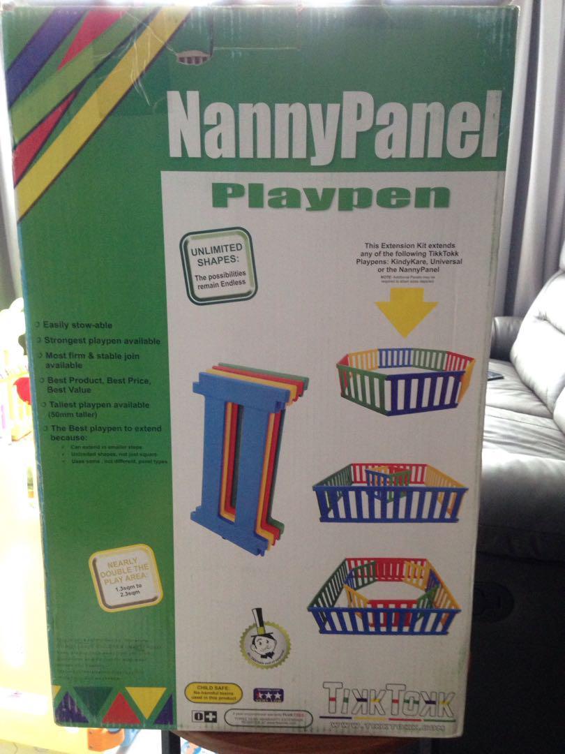 Tikk Tokk Nanny Panel Playpen Extension Pack