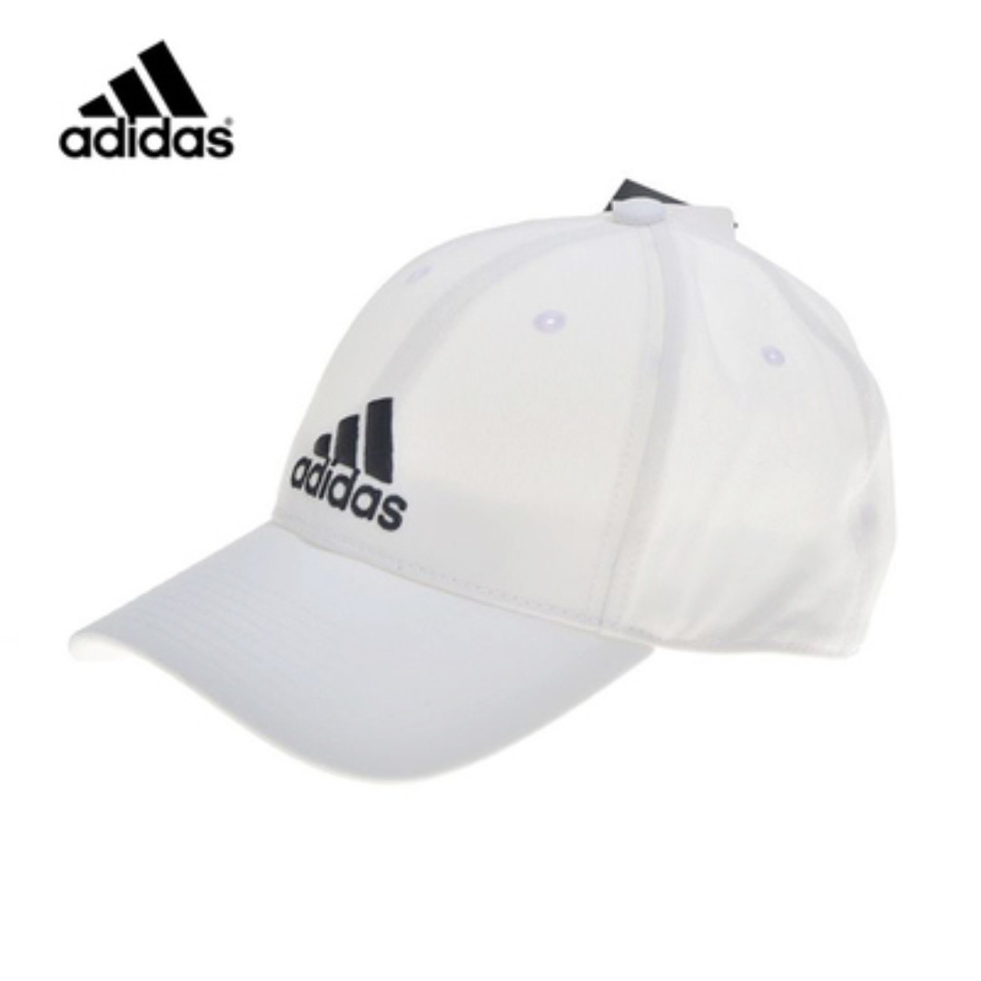 dbff2ac360b NEW  adidas WHITE Baseball Cap Hat Cotton (w. adjustable back strap ...